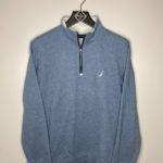 sweat bleu nautica halfzip vintage